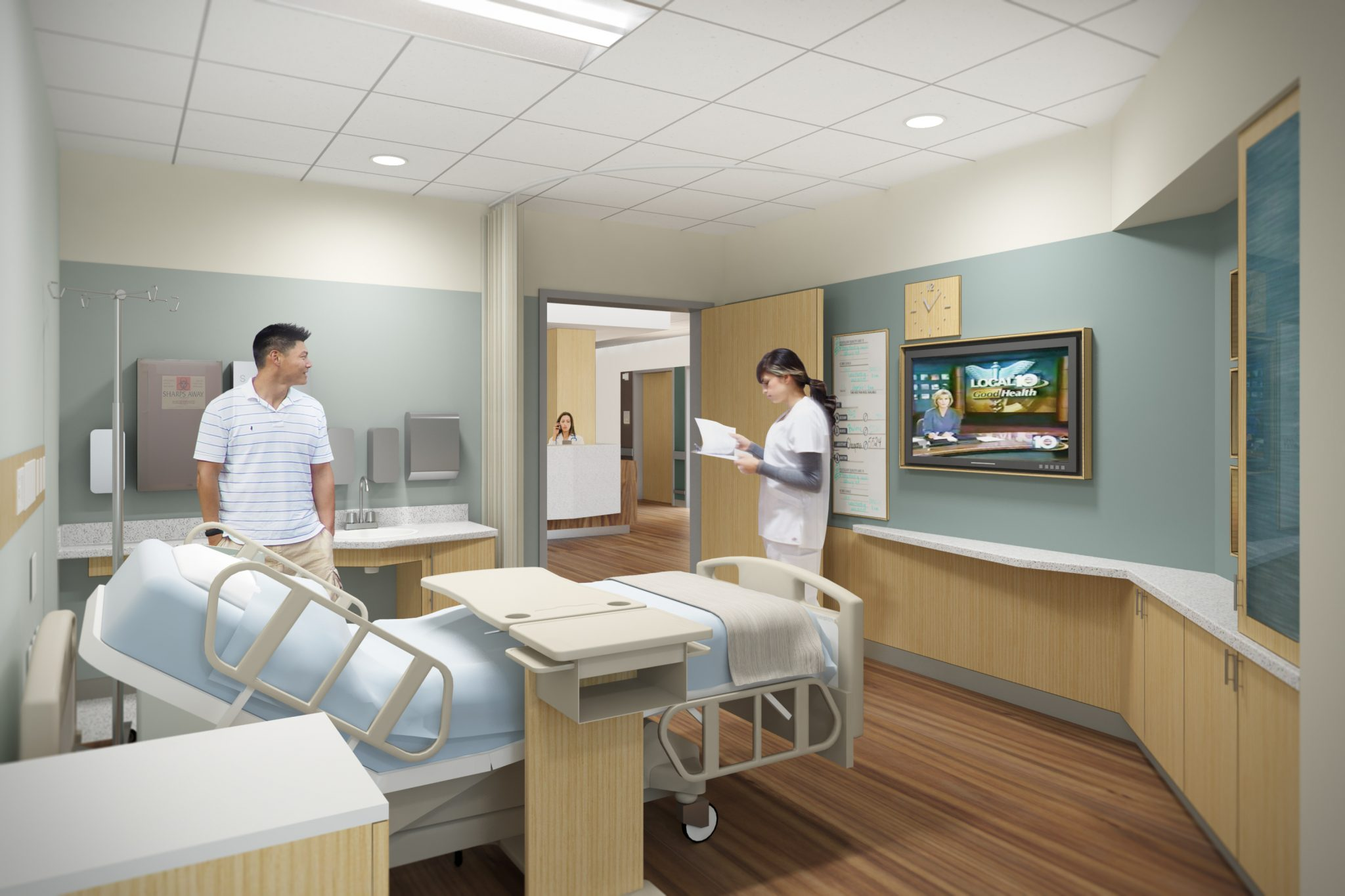 Henry Mayo Newhall Hospital - Rendering of Patient Room via HMC website