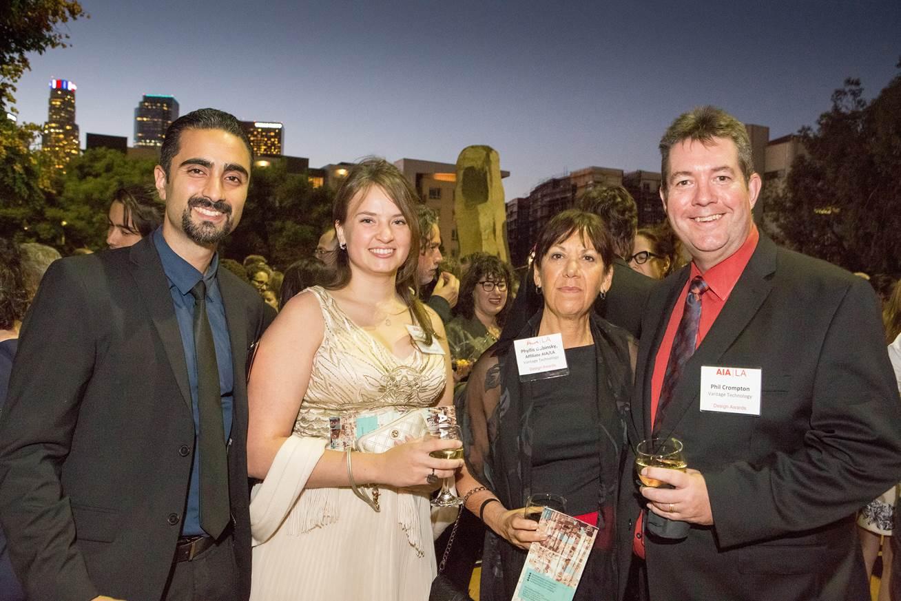 Vantage staff attend the AIA|LA Design Awards.  Photo courtesy AIA|LA.