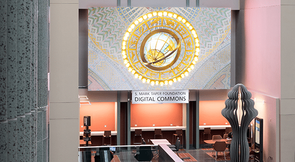 Video Wall at S. Mark Taper Digital Commons - from LAPL