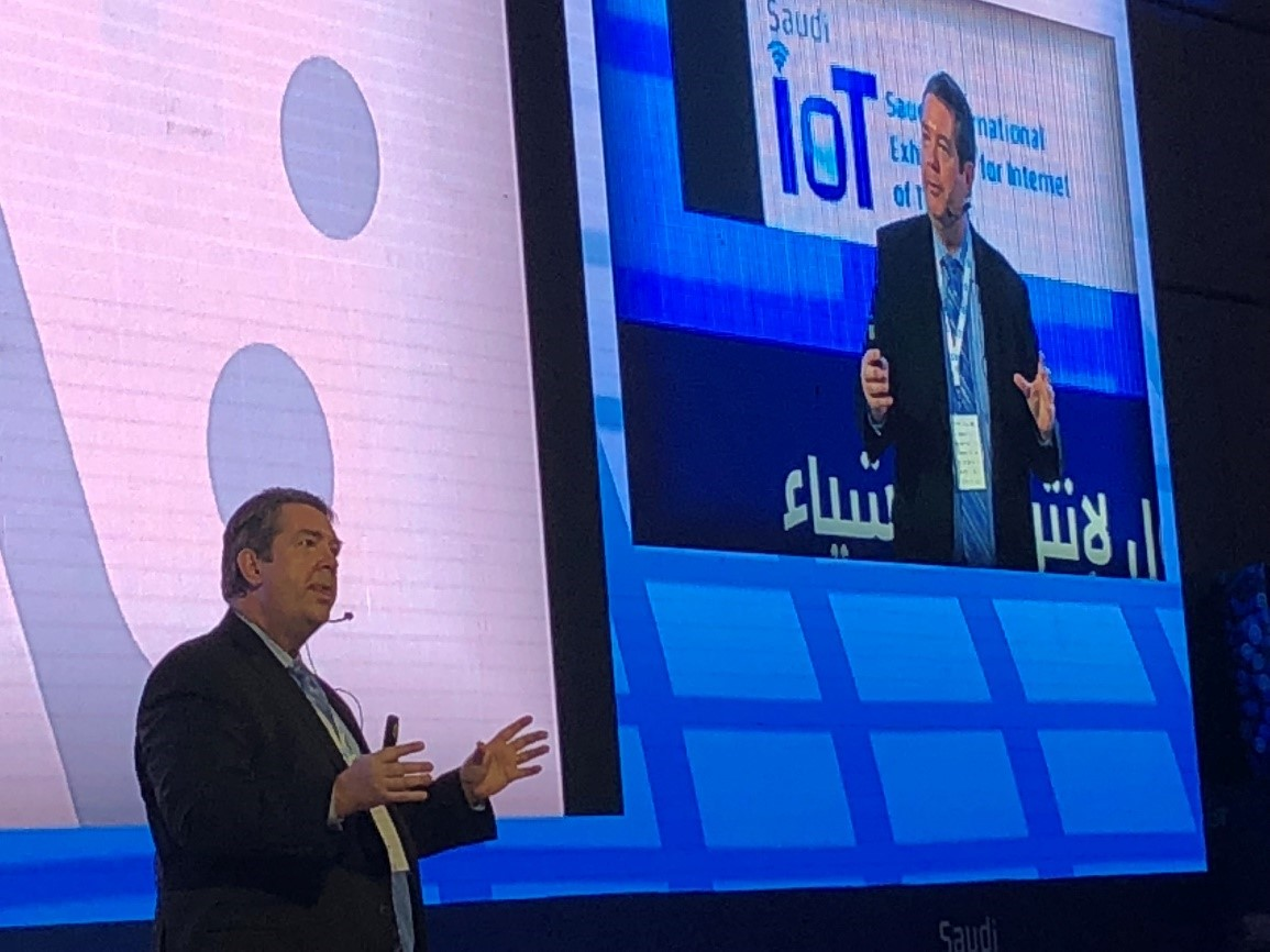 Phil Crompton from Vantage Technology Consulting Group at Saudi IoT Conference - January 2018