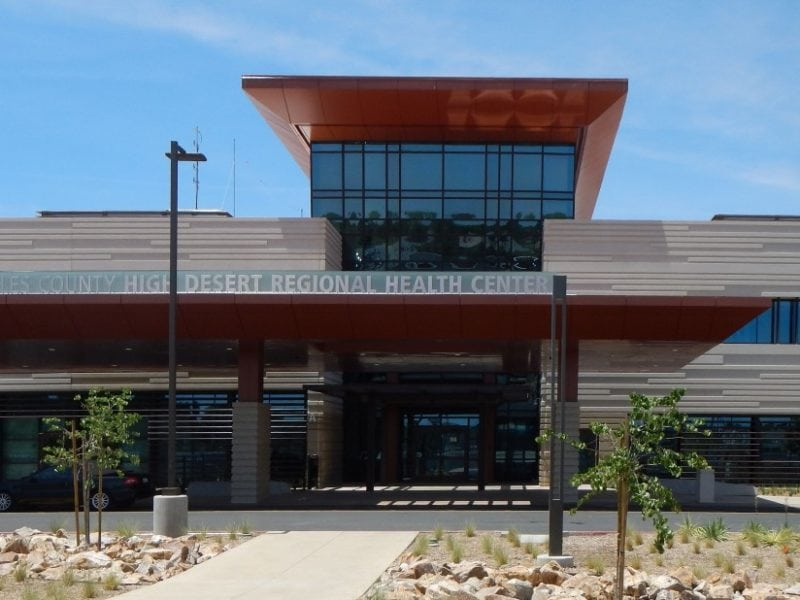 LA County High Desert Regional Health Facility - Front