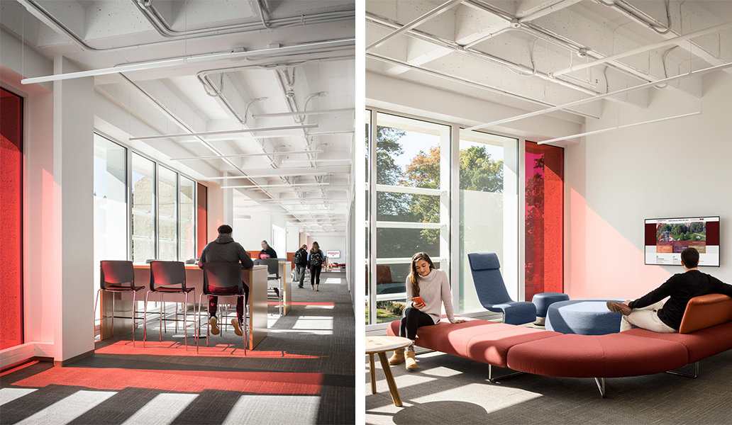 Springfield College - Learning Commons Collaboration Spaces - Via Icon