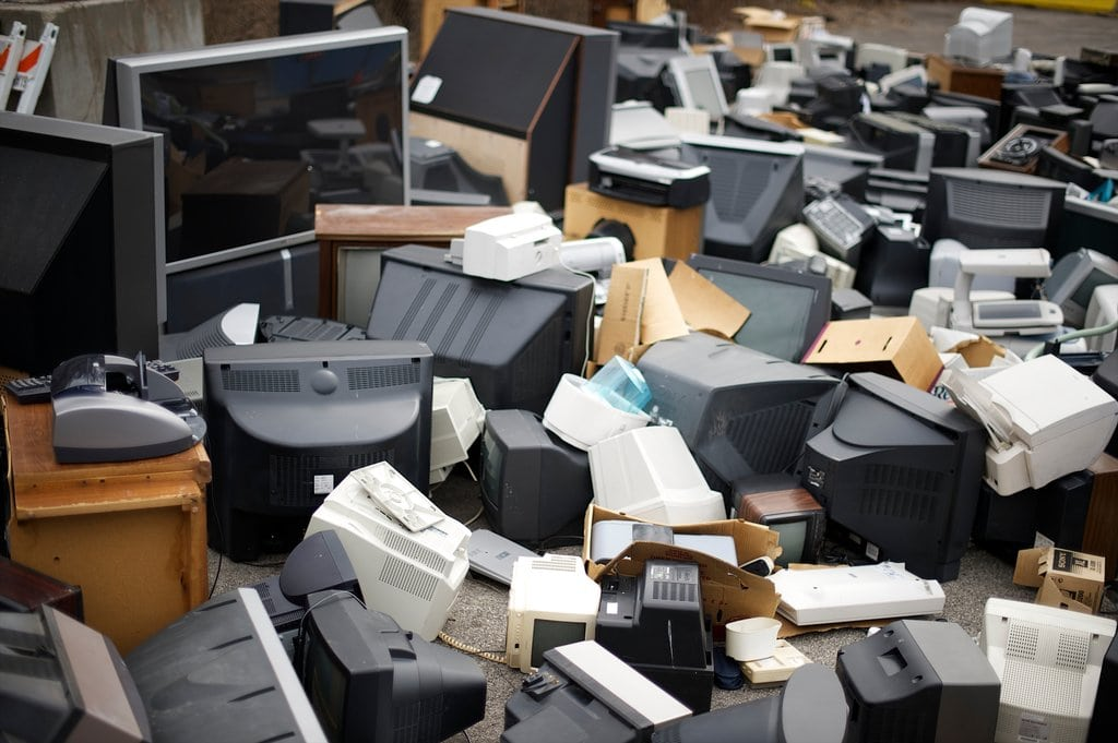 Pile of Old Computer Equipment - Photo Credit to Mark Makela from The New York Times