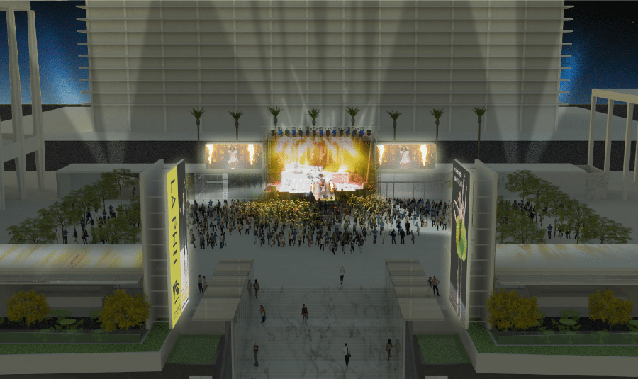 The Music Center Rendering from Rios Clementi Hale Studios - Performance View