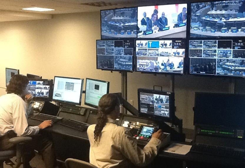 United Nations Broadcast - Live Control Room