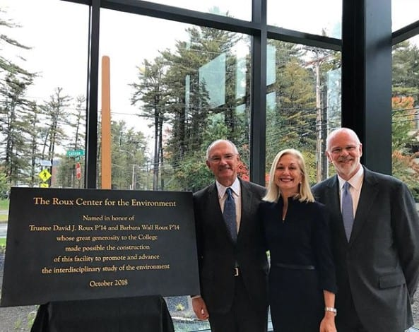 Bowdoin Roux Center - Dedication Plaque