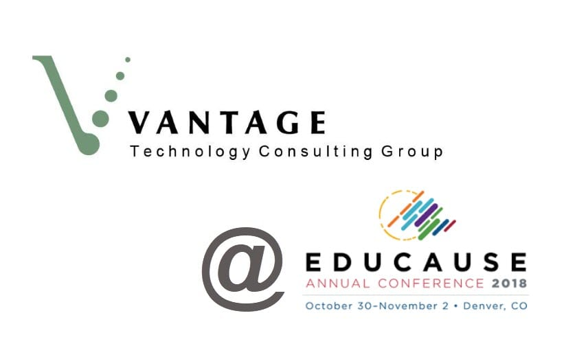 spend some time with vantage at the educause annual