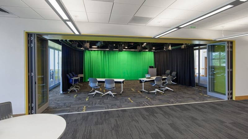 Dartmouth College Jones Media Center - Innovation Studio with Green Screen