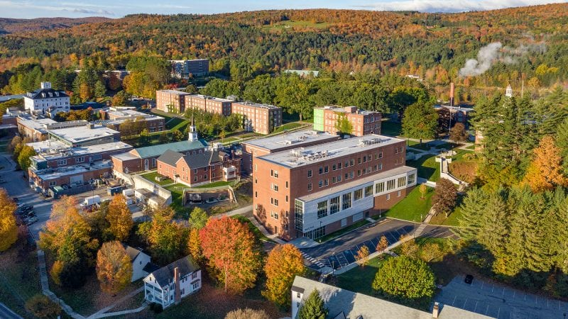 Norwich University Mack Hall - Aerial View