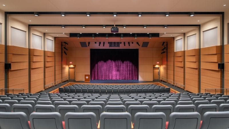 Norwich University Mack Hall - Auditorium with Curtain
