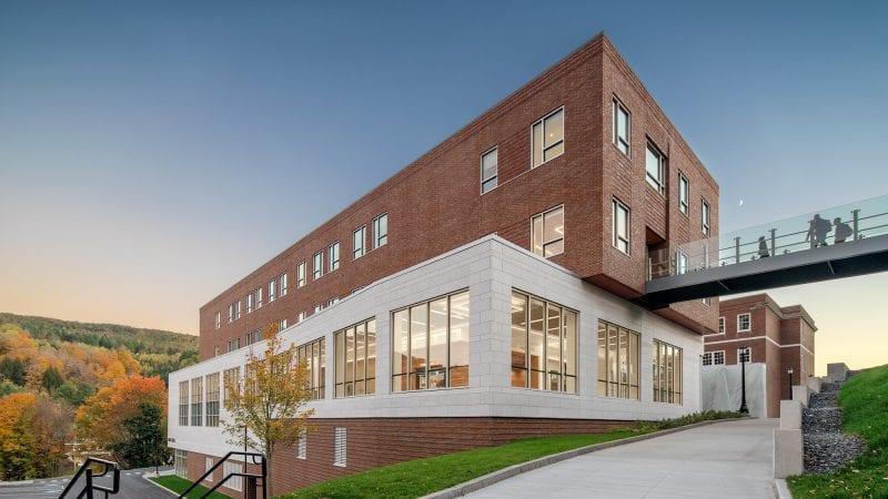 Norwich University Mack Hall - External with Bridge