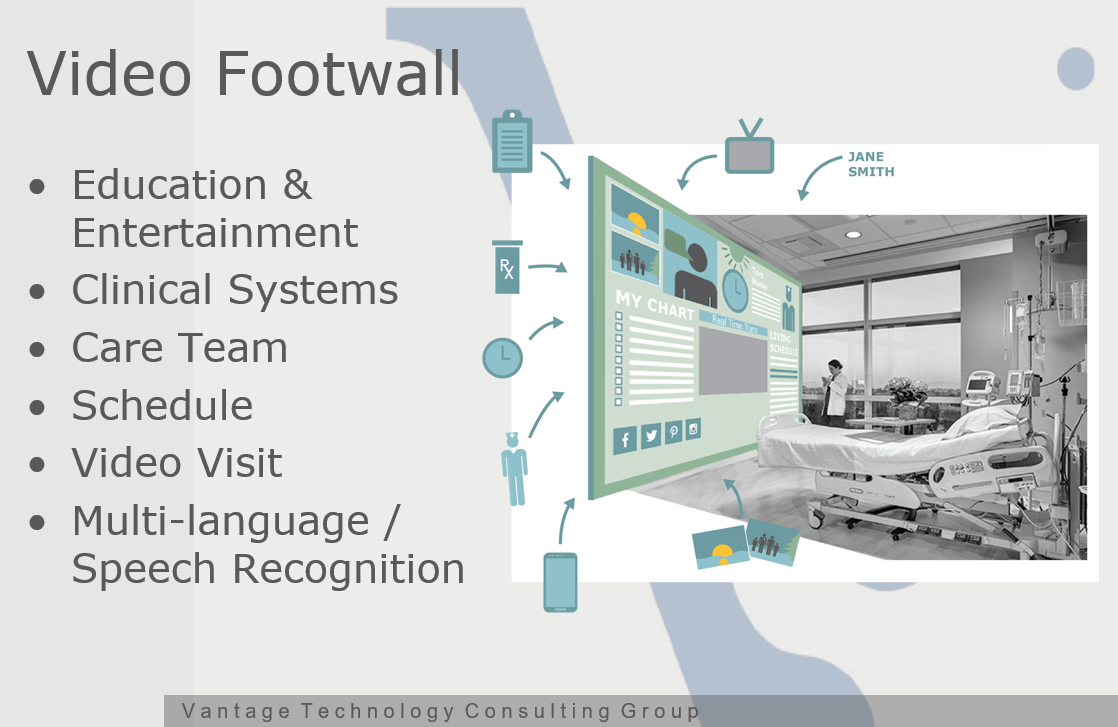 Vantage Technology Video Footwalls for Hospitals