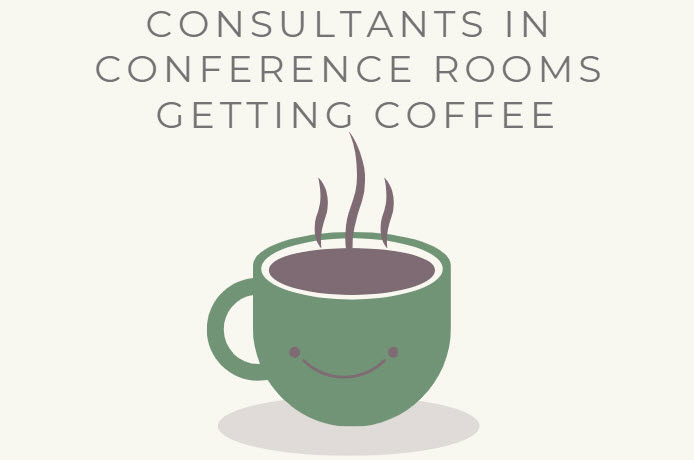 Consultants in Conference Rooms Getting Coffee