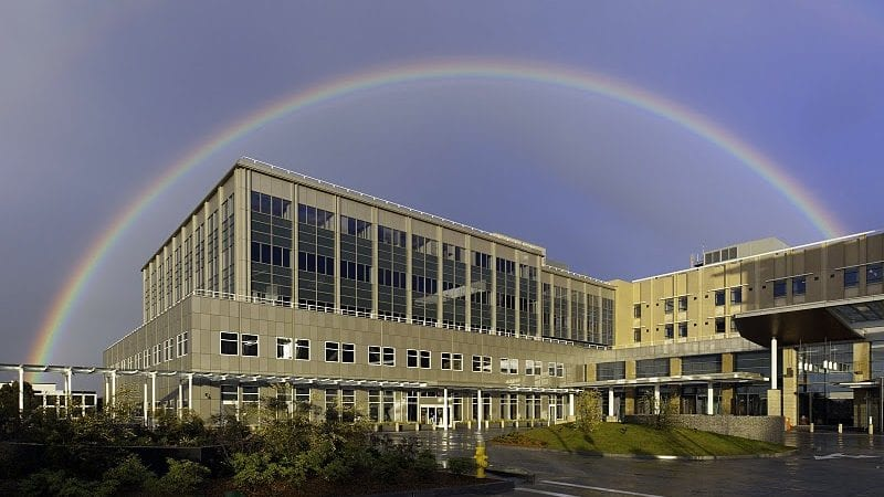 Mills-Peninsula Health Services - Exterior with Rainbow
