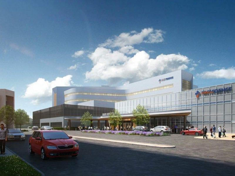 Providence Tarzana Medical Center Render via LADCP - View from Above