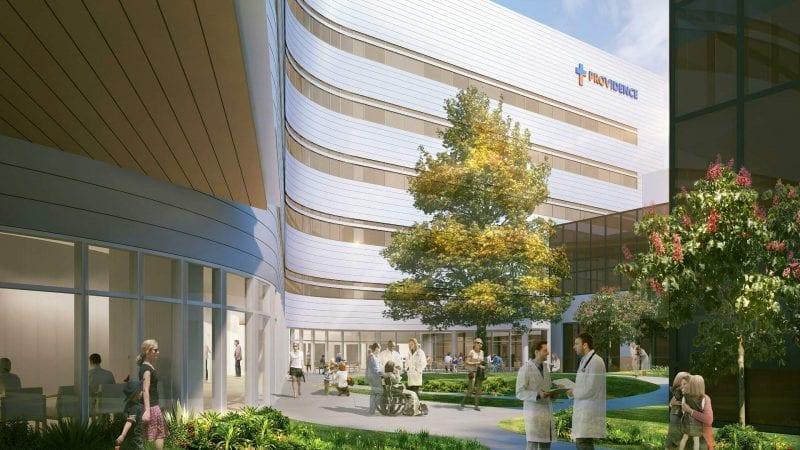 Providence Tarzana Medical Center Render via LADCP - Lobby Entrance