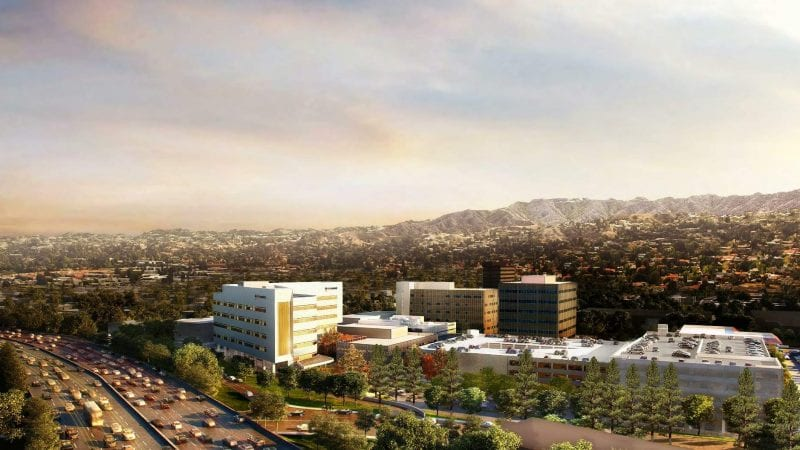Providence Tarzana Medical Center Render via LADCP - View from Above