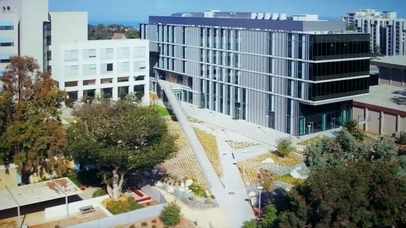 UCSD Tata Hall Drone Shot