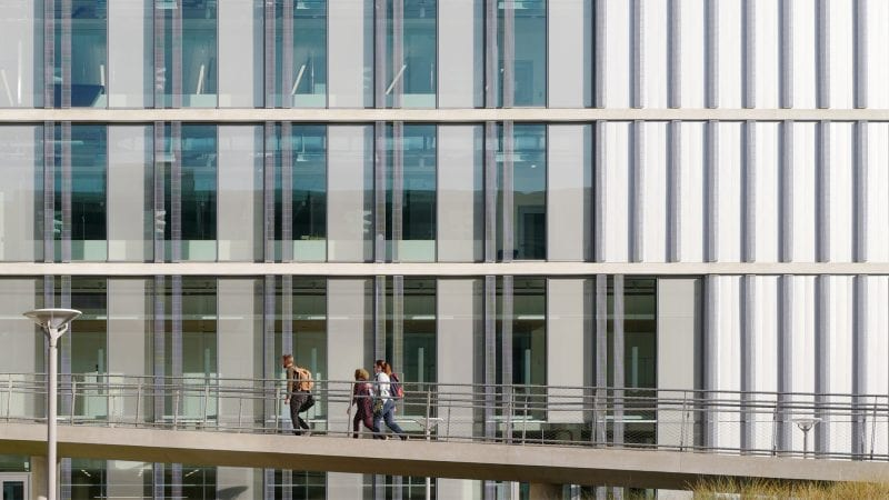 UCSD Tata Hall Exterior Glass Glazing from CO Architects