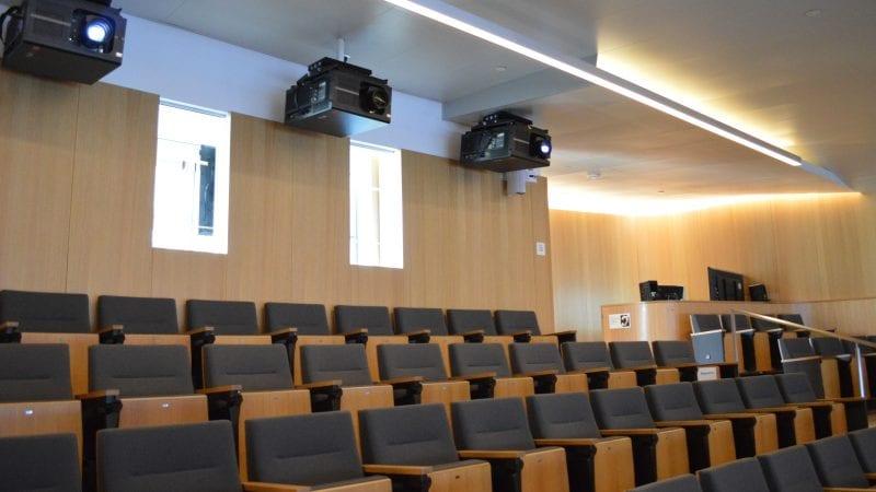 LMU Life Sciences Center - Auditorium Control Panel