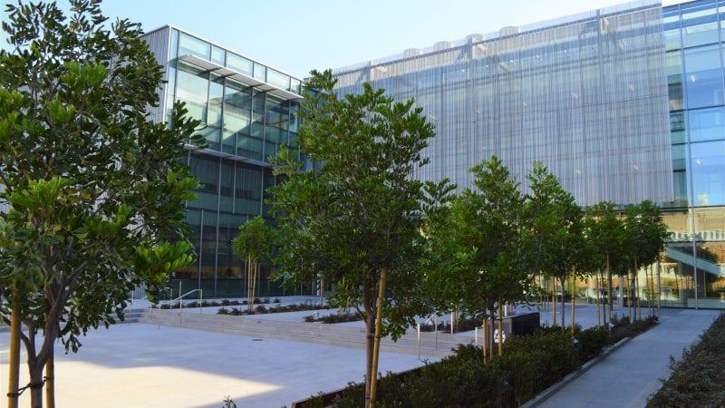 LMU Life Sciences Center - Exterior with Trees