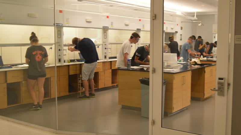 LMU Life Sciences Center - Laboratory with Students